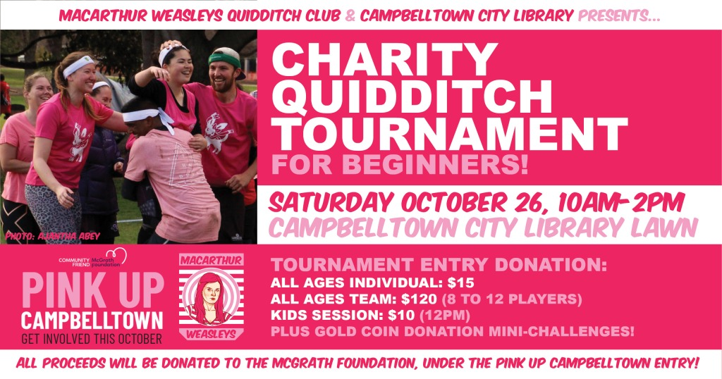 PINK UP CAMPBELLTOWN Charity Quidditch Tournament!